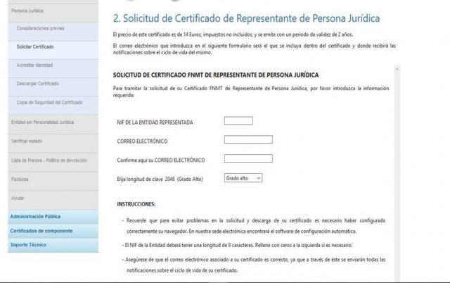 pantallazo certificado